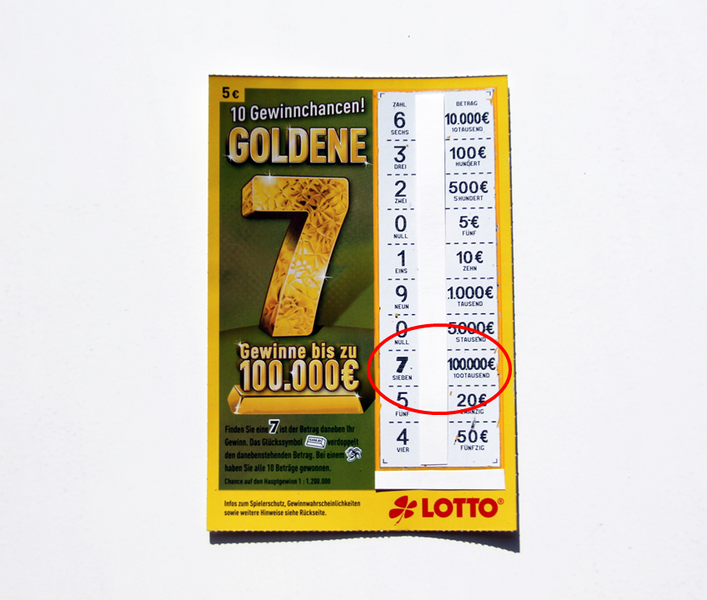 Goldene 7 Rubbellos Erfahrung