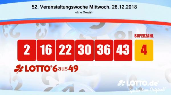Lotto 6aus49 Mittwoch