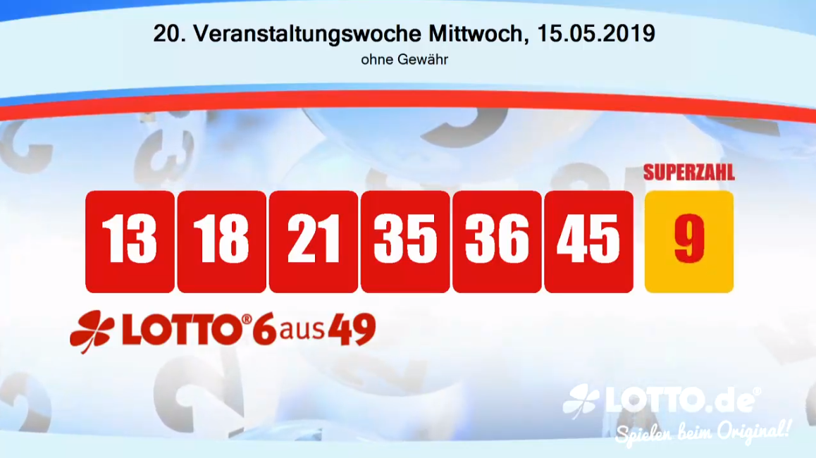 Lottozahlen 15.05.19