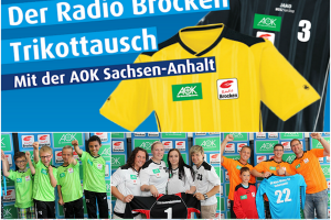 Der Radio Brocken Trikottausch Collage.news