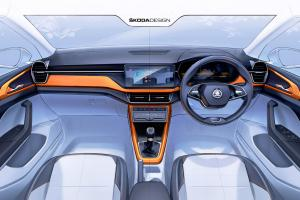 210304 SKODA KUSHAQ Interior sketch  1 .news
