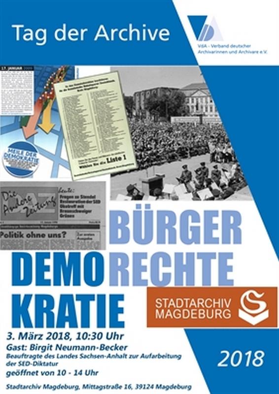demokratie und brgerrechte tag der archive in magdeburg - Burgerrechte Beispiele